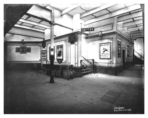 East 18th Street Subway Station - Gramercy Park - New York, NY 1905 Old Vintage Photos and Images