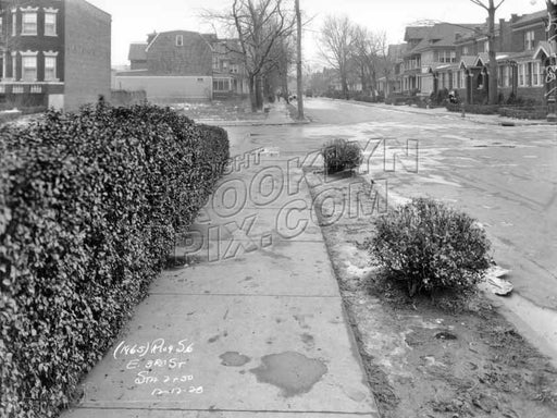 East 3rd Street looking north to Caton Avenue, 1928 Old Vintage Photos and Images