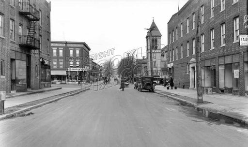 East 4th Street north to Fort Hamilton Parkway, 1928 A Old Vintage Photos and Images