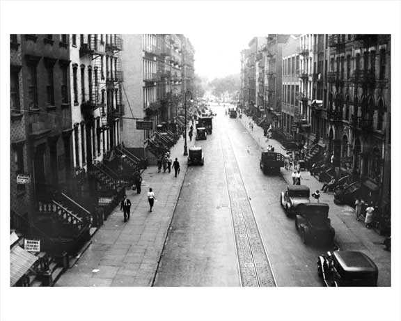East 8th St. looking West toward 2nd Ave. 1936 Old Vintage Photos and Images