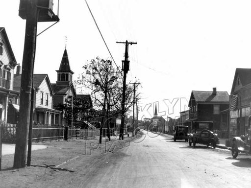 East 92nd Street (Canarsie Road), looking south from Flatlands Avenue, 1923 Old Vintage Photos and Images