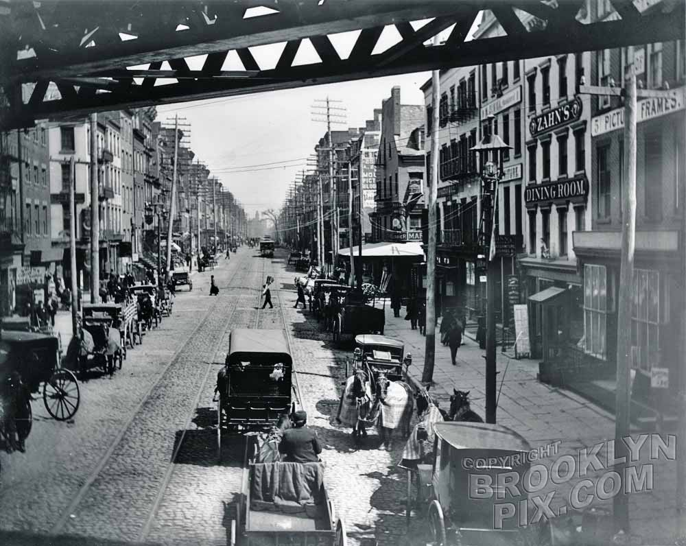 East Broadway northeast from Chatham Square, 1887 Old Vintage Photos and Images