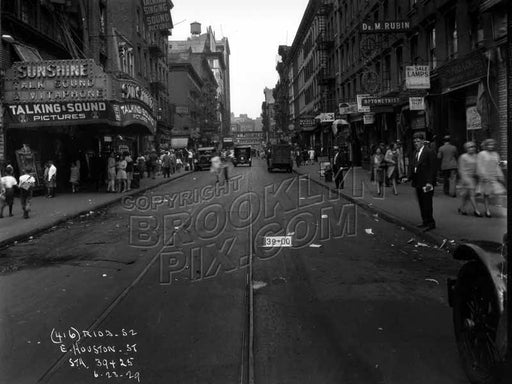 East Houston Street showing Schimmel's Knishes and Sunshine Theater Old Vintage Photos and Images