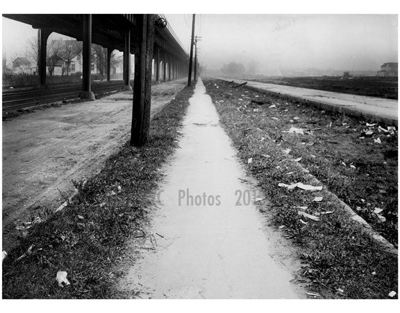 East sidewalk of Gravesend Ave looking north from Avenue T -  1922 Old Vintage Photos and Images