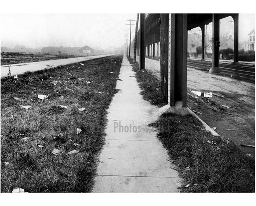 East sidewalk of Gravesend Ave looking south from Avenue S -  1922 Old Vintage Photos and Images