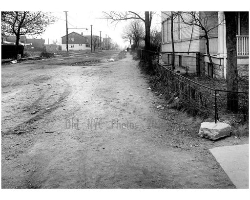 East sidewalk of West 5th, looking north from Ave U -  1922 Old Vintage Photos and Images