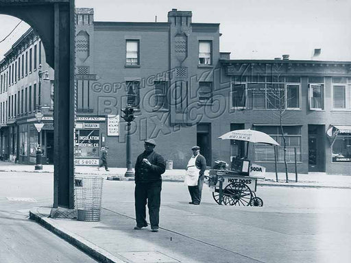 Eastern Parkway at Fulton Street, 1940s Old Vintage Photos and Images