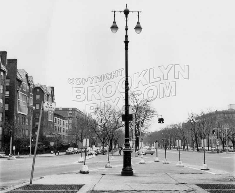 Eastern Parkway east from Washington Avenue, 1959 Old Vintage Photos and Images