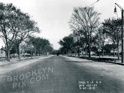 Eastern Parkway, looking east from Ocean Parkway, 1915 Old Vintage Photos and Images