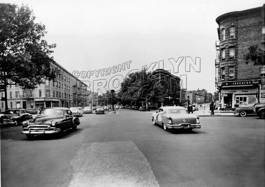 Eastern Parkway looking west at Saratoga Avenue and Sterling Place, 1957 Old Vintage Photos and Images