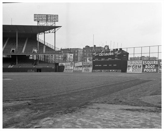 Ebbets Field with Score Sign Close Up