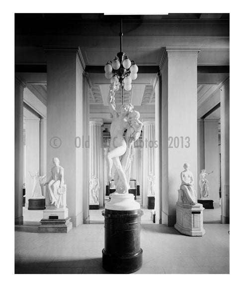 Egyptian Gallery - inside the Brooklyn Institute of Arts & Sciences - Brooklyn Museum Old Vintage Photos and Images