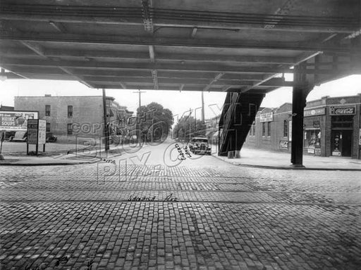 Elderts Lane, south from Jamaica Avenue, 1938 Old Vintage Photos and Images
