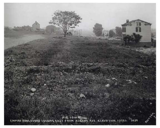 "Empire Blvd. Looking East from Albany Ave 1923 - ""pigtown"" Old Vintage Photos and Images"