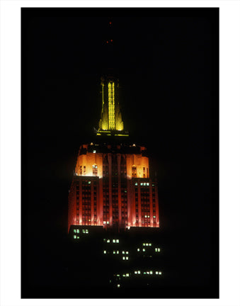 Empire State Building at Night Old Vintage Photos and Images