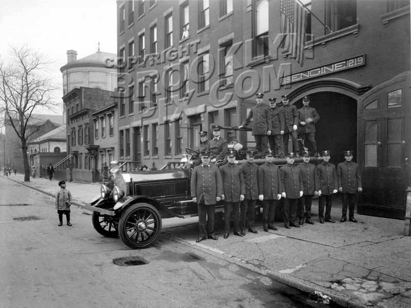 Engine Co. 219, 735-737 Dean Street, between Vanderbilt and Underhill Avenues, c.1924 Old Vintage Photos and Images