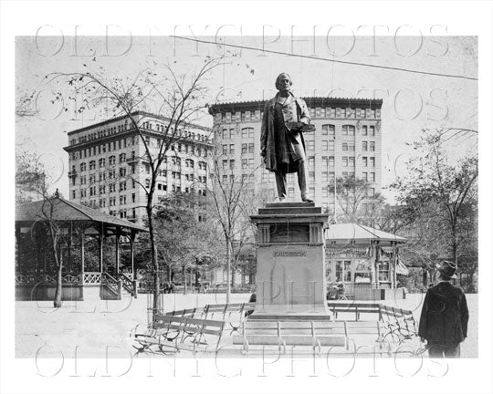 Ericsson Statue Battery Park Manhattan NYC Old Vintage Photos and Images