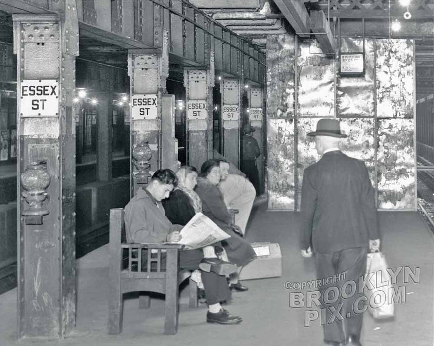 Essex Street station on the Centre Street Line, 1949 Old Vintage Photos and Images