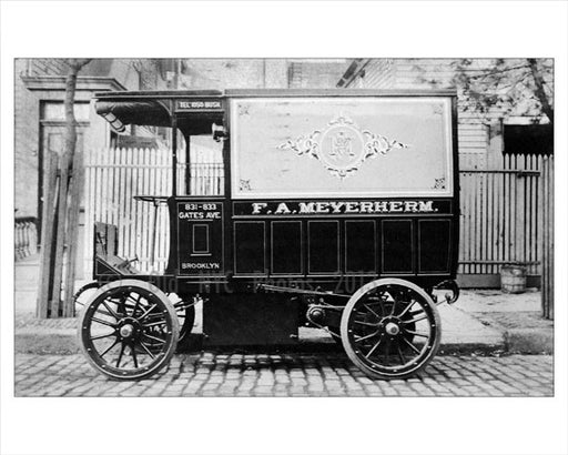F.A. Meyerherm Wagon on  Gates Ave Old Vintage Photos and Images