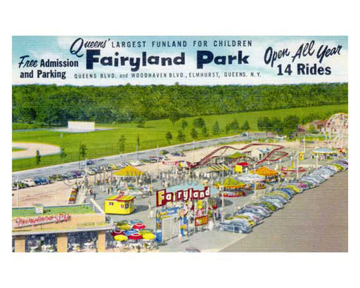 Fairyland  Amusement Park 1950s - site of the Queens Center Mall - Elmhurst -  Queens NY Old Vintage Photos and Images