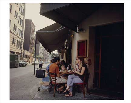 Family Eating Greenwich Village Old Vintage Photos and Images