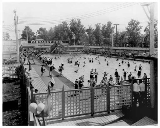 Farragut Pool 1940 East Flatbush Brooklyn, NY Old Vintage Photos and Images