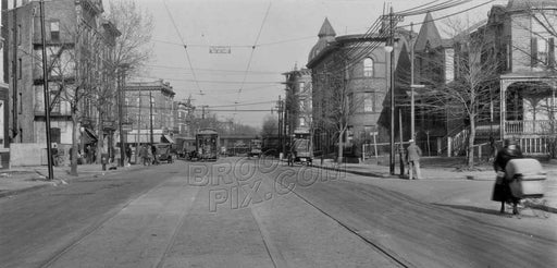 Farragut Road looking east from East 26th Street to Kenilworth Place, 1925 Old Vintage Photos and Images