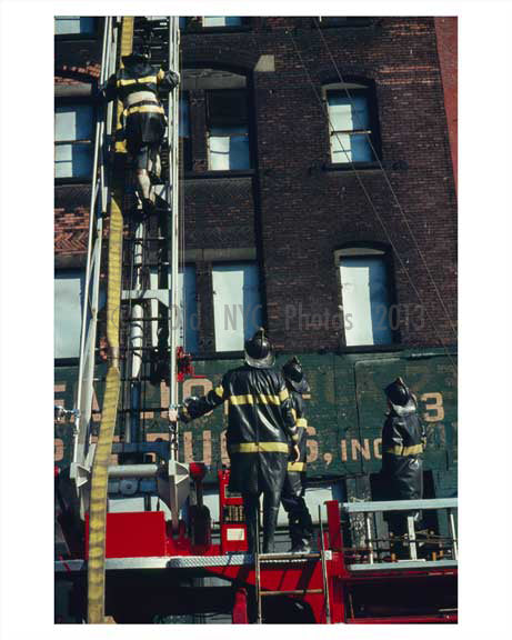 FDNY at work in Brooklyn NY 1965 Old Vintage Photos and Images
