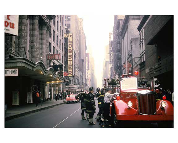 FDNY at work -  Midtown Manhattan 1960's Old Vintage Photos and Images