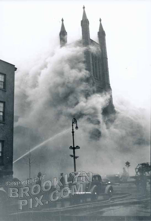 Fire at Christ Episcopal Church, Kane and Clinton Streets, February 26, 1939 Old Vintage Photos and Images