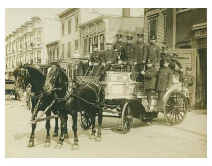 Fire Brigade with Horse Cart Old Vintage Photos and Images