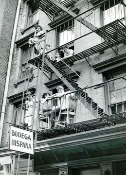 Fire Escape Scene Lower East Side 1952 Old Vintage Photos and Images