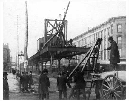 Flatbush Ave Construction Downtown Brooklyn NY Old Vintage Photos and Images