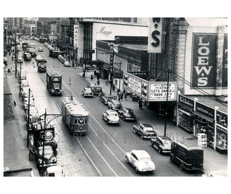 Flatbush Ave from Beverly Rd. 1948 Old Vintage Photos and Images