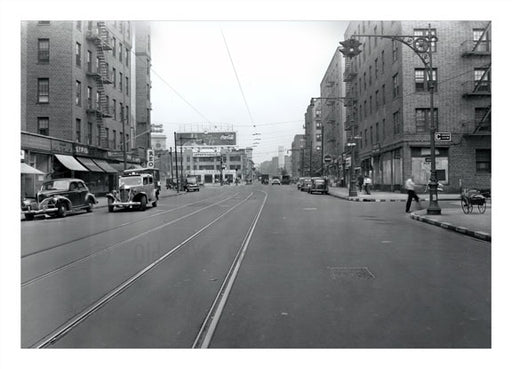 Flatbush Ave north to Maple 1943 Prospect Park Brooklyn NY Old Vintage Photos and Images