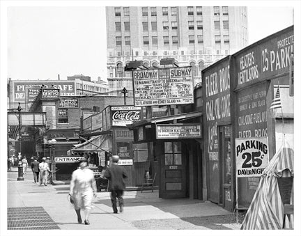 Flatbush Ave & One Hanson Prospect Heights Brooklyn NY Old Vintage Photos and Images