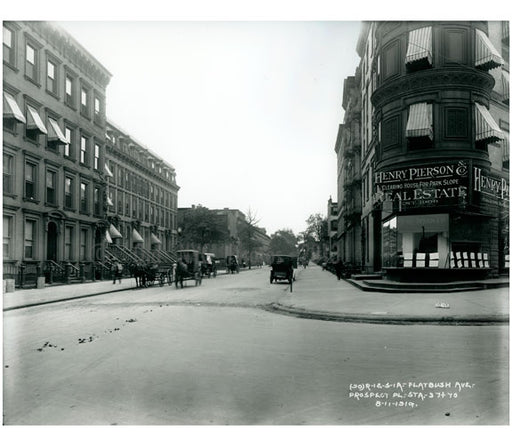 Flatbush Ave & Prospect Place 1919 Old Vintage Photos and Images