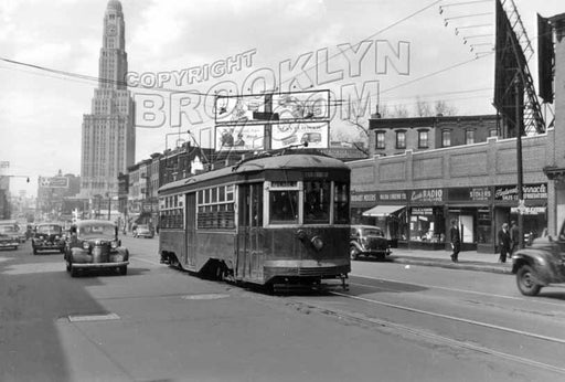Flatbush Avenue looking north from 6th Avenue, 1948 Old Vintage Photos and Images