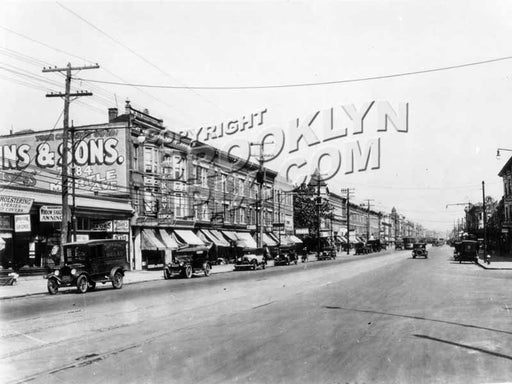 Flatbush Avenue looking north from East 29th Street to Glenwood Road, 1927 Old Vintage Photos and Images