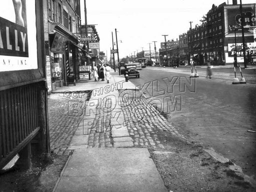 Flatbush Avenue looking south to Avenue I, 1935 Old Vintage Photos and Images