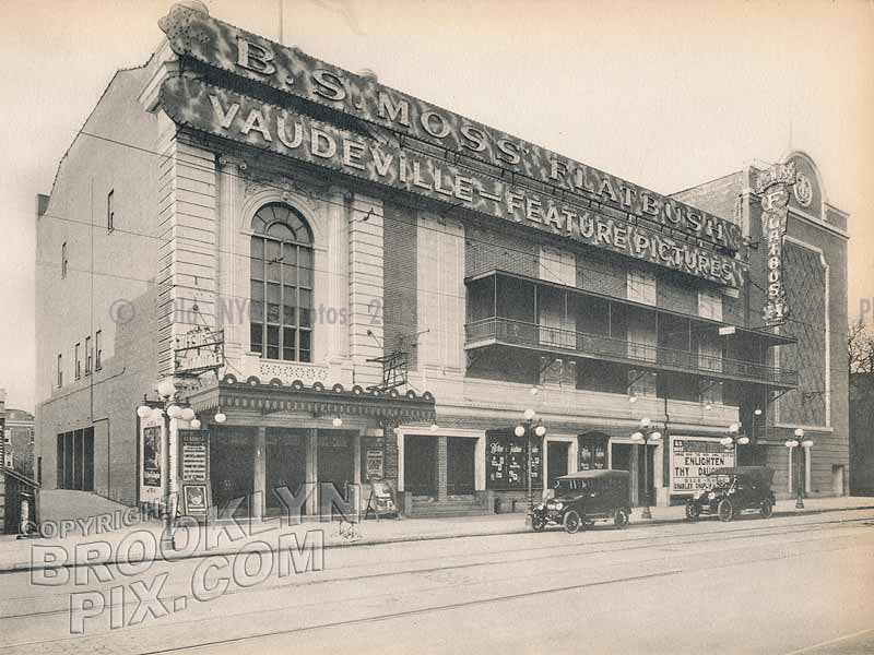 Flatbush Theater, Church Avenue east of Flatbush Avenue, 1917 Old Vintage Photos and Images