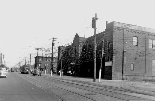 Flatbush Trolley Depot at Avenue N and East 49th Street, built 1908, demolished 1951, 1950 photo, now site of a playground Old Vintage Photos and Images