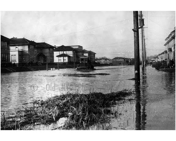 Flooded Avenue P near Madison High School 1920s Old Vintage Photos and Images