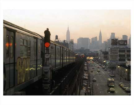 Flushing Elevated Subway Old Vintage Photos and Images