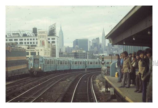 Flushing Trainline Commuters Old Vintage Photos and Images