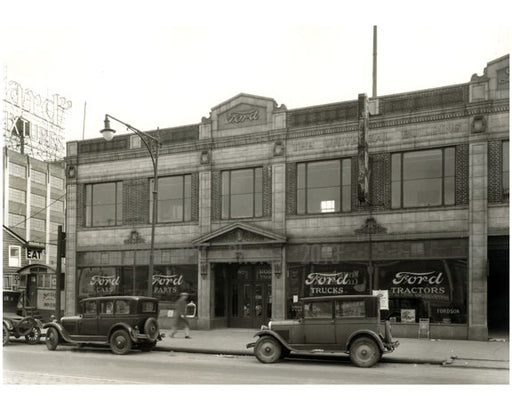Ford Dealerwship at 31-08 Northern Blvd 1928 Long Island City - Queens NY Old Vintage Photos and Images