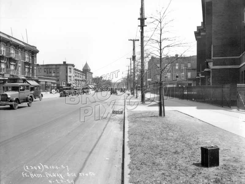 Fort Hamilton Parkway looking east to East 3rd Street Old Vintage Photos and Images
