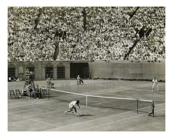 Frank Parker v. Bill Talbert US Open 1945  - Forest Hills  - Queens - NYC Old Vintage Photos and Images