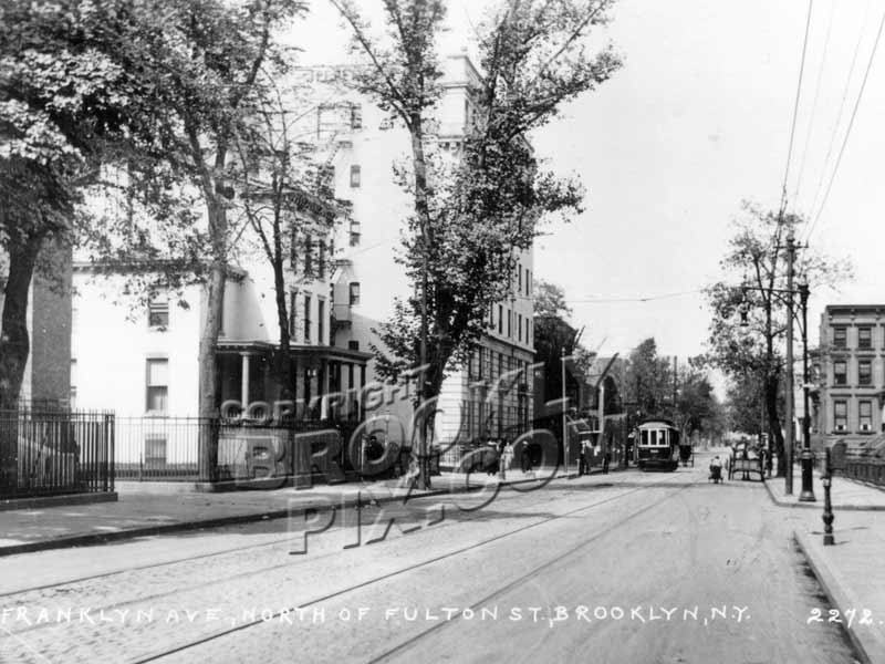 Franklin Avenue looking north from Fulton Street toward Hancock Street, c.1912