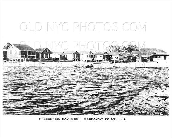 Freebergs Hotel Bay Side Rockaway Point LI Old Vintage Photos and Images